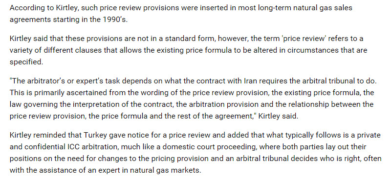 William Kirtley Discusses Gas Price Review Provisions With The