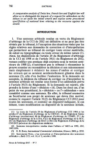 Olivier Marquais Publishes Article on Article 35 of the ICC Rules of Arbitration in the Revue de l'Arbitrage