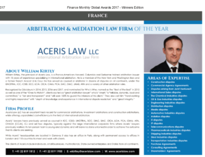arbitration firm year