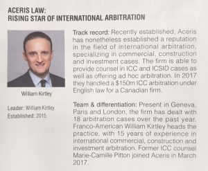 William Kirtley Rising Star International Arbitration_s