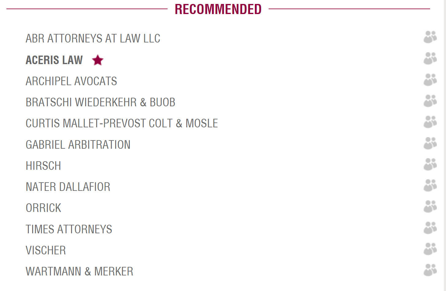 Recommended International Arbitration Firms in Geneva