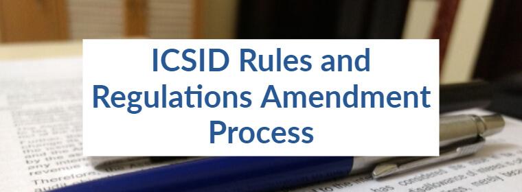 ICSID Rules Amendment