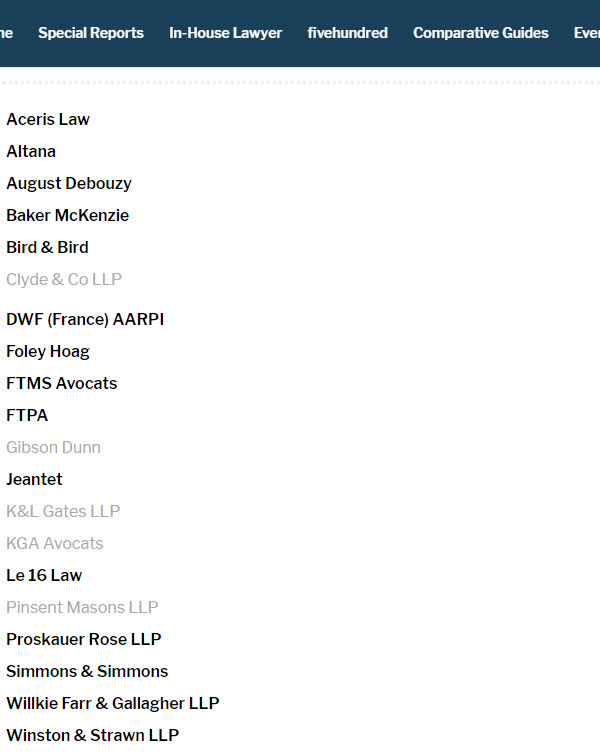 Aceris Law Legal 500